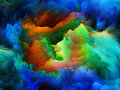 Inner life of colors tragedy color series backdrop pure color forms on the subject art passion spirituality and world Stock Photo