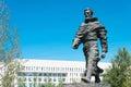 INNER MONGOLIA, CHINA - Aug 10 2015: Marco Polo Statue at Kublai Royalty Free Stock Photo