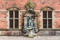 Inner yard of Frederiksborg castle Royalty Free Stock Photo