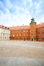 Inner yard in royal castle at downtown warsaw capital of poland europe Stock Image