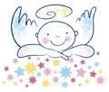 Innocent angel and stars