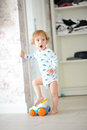 Innocent child playing Royalty Free Stock Photo