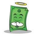 Innocent face Dollar character cartoon style