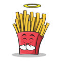 Innocent face french fries cartoon character