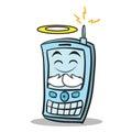 Innocent face phone character cartoon style