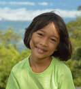Innocent kid asian with face expression happy face and gentle eyes Royalty Free Stock Image