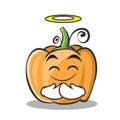 Innocent pumpkin character cartoon style