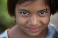 Innocent smile of indian female child Royalty Free Stock Photo