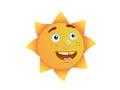 Innocent sun face