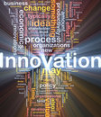 Innovation business background concept glowing Stock Photo