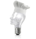 Innovation cook lightbulb with chef hat representing creative cuisine Royalty Free Stock Photography