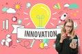 Innovation Ideas Development Creative Invention Concept Royalty Free Stock Photo