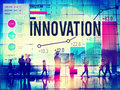 Innovation innovate inspiration invention imagination concept Royalty Free Stock Images
