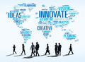 Innovation inspiration creativity ideas progress innovate concep concept Royalty Free Stock Images