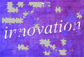 Innovation puzzle Royalty Free Stock Photo