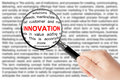Innovation sign Royalty Free Stock Images