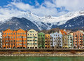 Innsbruck austria architecture and nature background Stock Photos