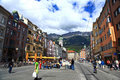 Innsbruck Street.Austria. Royalty Free Stock Photography