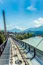 Innsbrucker Nordkette cable railways in Austria. Royalty Free Stock Photo