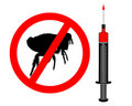 Inoculation against fleas Royalty Free Stock Images