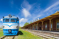 Inoperative railway station in Haapsalu, Estonia Royalty Free Stock Photo