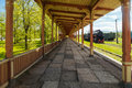 Inoperative railway station platform in Haapsalu Royalty Free Stock Photo