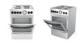 Inox electric cookers Royalty Free Stock Photo