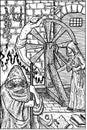 Inquistor. Engraved fantasy illustration.