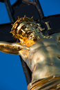 Inri detail photo of jesus christ on a cross Royalty Free Stock Photography