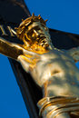 Inri detail photo of jesus christ on a cross Royalty Free Stock Image