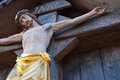 Inri jesus a statue of on the cross in bavaria Royalty Free Stock Photos