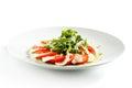 Insalata di caprese con rocket salad Fotografia Stock Libera da Diritti