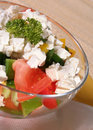 Insalata vegetariana, stile di vita sano Immagine Stock Libera da Diritti