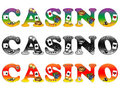 The inscription casino Royalty Free Stock Photo