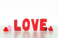 Inscription love valentine s day holiday Royalty Free Stock Images