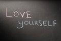 Inscription love yourself