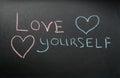 Inscription love yourself Royalty Free Stock Photo