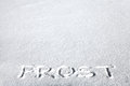 Inscription on the Snow Royalty Free Stock Photography