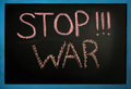 The inscription of the stop war Royalty Free Stock Photo