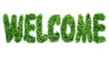 The inscription `Welcome`