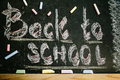 chalk with words back to school