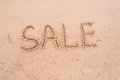 Inscriptions on the sand: sale Royalty Free Stock Photo
