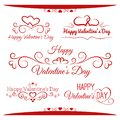 Inscriptions set for valentine s day this is file of eps format Royalty Free Stock Photography