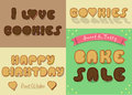 Inscriptions by sweet cookies font
