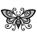 Insect bee vector beautiful exotic patterned design tattoo Royalty Free Stock Images