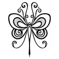 Insect dragonfly vector beautiful exotic patterned design tattoo Stock Images