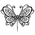 Insect dragonfly vector beautiful exotic patterned design tattoo Stock Photos