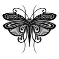 Insect dragonfly vector beautiful exotic patterned design tattoo Royalty Free Stock Photography