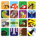 Insect icons set Royalty Free Stock Photos
