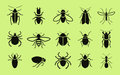 Insects icons. Pest control. Vector illustration Royalty Free Stock Photo